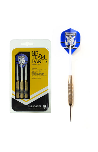 NRL BRASS DARTS 3 X DARTS FLIGHTS & SHAFTS IN CASE
