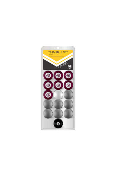 NRL 16 BALL SET MANLY SEA EAGLES VS COLOR YELLOW
