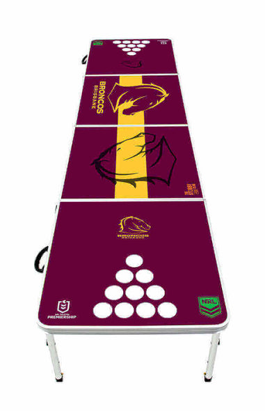 NRL Brisbane Broncos Beer Pong Table - PRE ORDERS