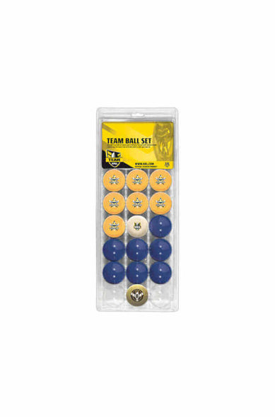 NRL 16 BALL SET NORTH QUEENSLAND COWBOYS V COLOUR BLUE