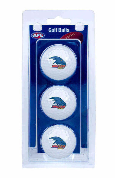 AFL ADELAIDE CROWS GOLF BALL 3 PACK