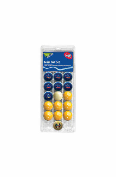 AFL 16 BALL SET ADELAIDE CROWS V COLOUR YELLOW