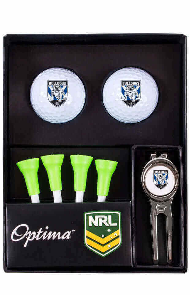NRL CANTEBURY BULLDOGS GOLF TEE UP GIFT PACK