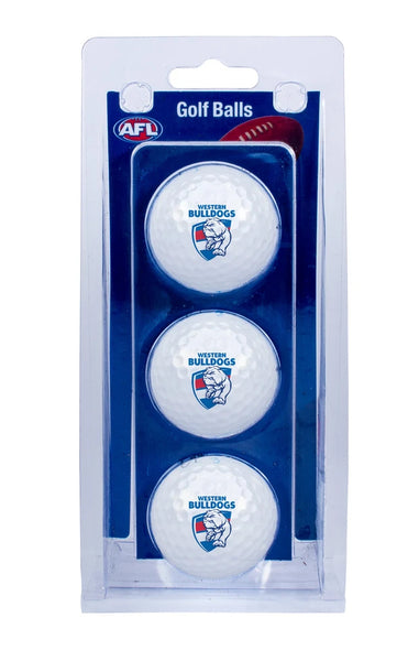 AFL WESTERN BULLDOGS GOLF BALL 3 PACK