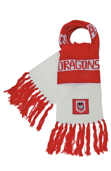 NRL ST GEORGE ILLAWARRA DRAGONS BAR SCARF