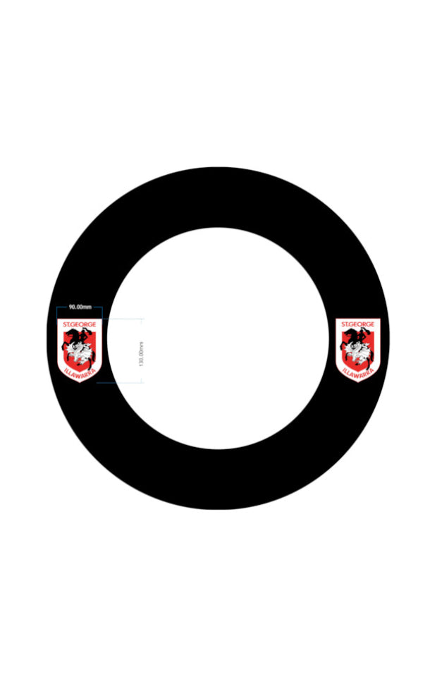ST GEORGE ILLAWARRA DRAGONS NRL DARTBOARD SURROUND