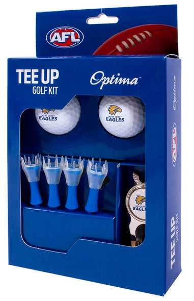 WEST COAST EAGLES AFL TEE UP GIFT PACK