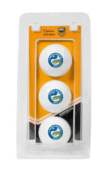 NRL PARAMATTA EELS GOLF BALL 3 PACK
