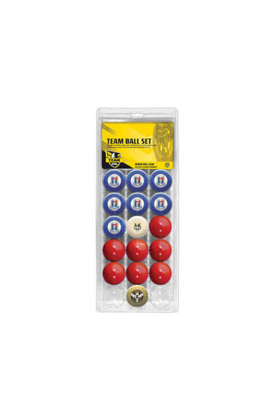 NRL 16 BALL SET NEWCASTLE KNIGHTS V COLOUR RED