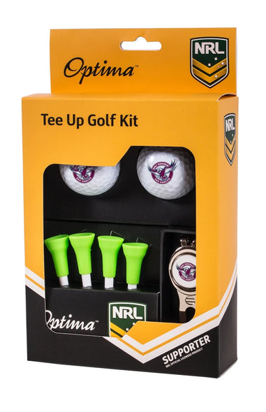 NRL MANLY SEA EAGLES GOLF TEE UP GIFT PACK