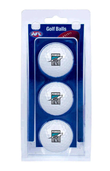 AFL PORT ADELAIDE POWER GOLF BALL 3 PACK