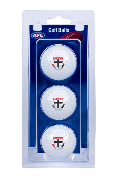 AFL SAINT KILDA SAINTS GOLF BALL 3 PACK