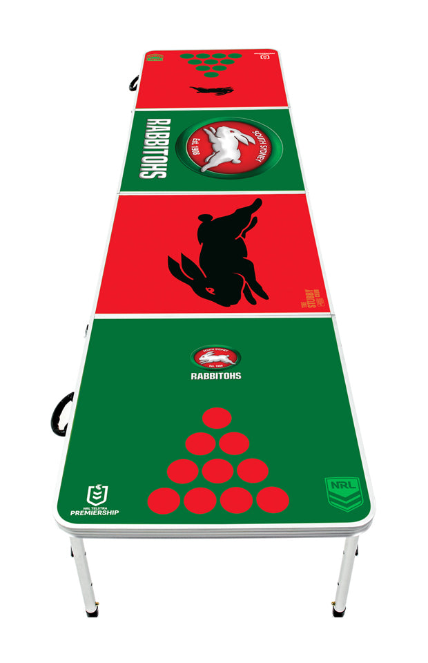 NRL South Sydney Rabbitohs Beer Pong Table - PRE ORDERS