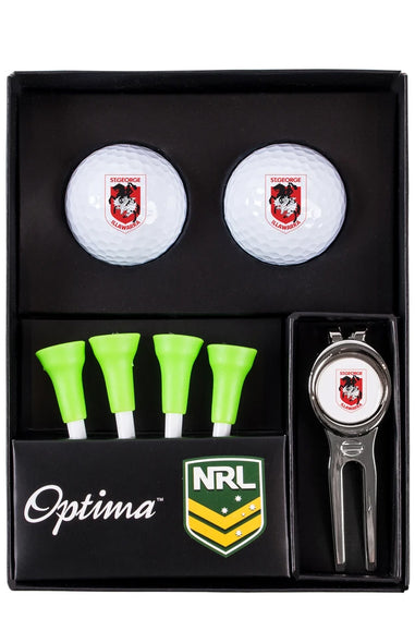 NRL SAINT GEORGE DRAGONS GOLF TEE UP GIFT PACK