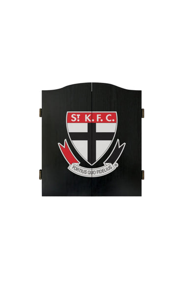 AFL St Kilda Saints Dartboard + Cabinet