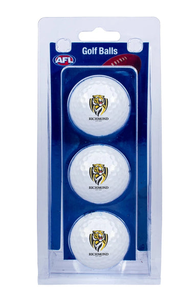 AFL RICHMOND TIGERS GOLF BALL 3 PACK
