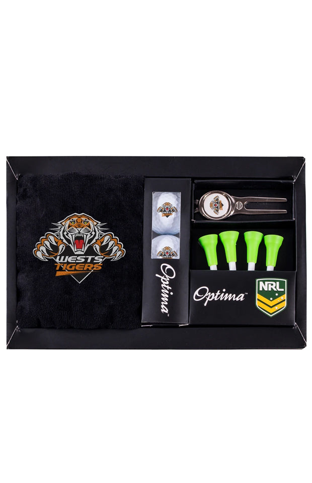 NRL WESTS TIGERS GOLF GIFT PACK