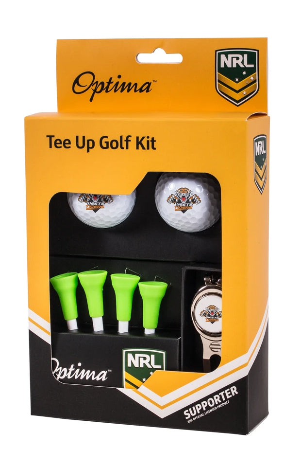 NRL WESTS TIGERS GOLF TEE UP GIFT PACK