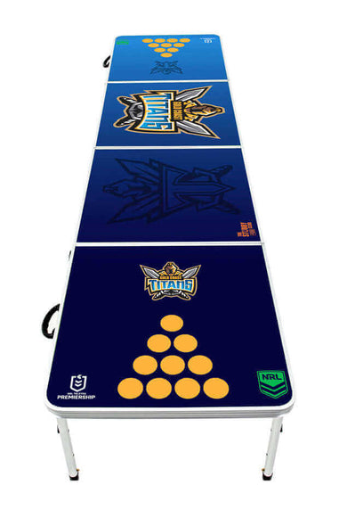 NRL Gold Coast Titans Beer Pong Table - PRE ORDERS