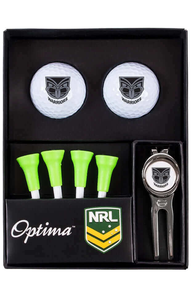 NRL NEW ZEALAND WARRIORS GOLF TEE UP GIFT PACK