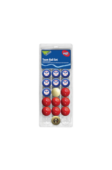 AFL 16 BALL SET WESTERN BULLDOGS V COLOUR RED