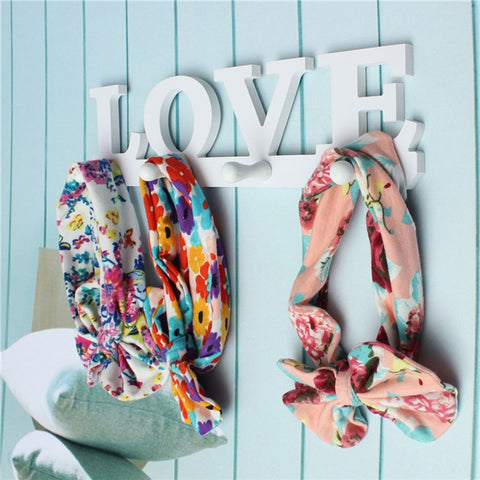 Robe Hooks Vintage White LOVE Hook Clothes Robe Key Holder Hat Hanger Home Decoration Brand