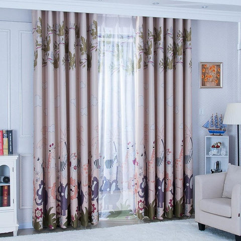 150x270cm Animal Paradise Print Shading Curtain  Door Window Curtain Drape Panel Sheer Valances tulle curtains