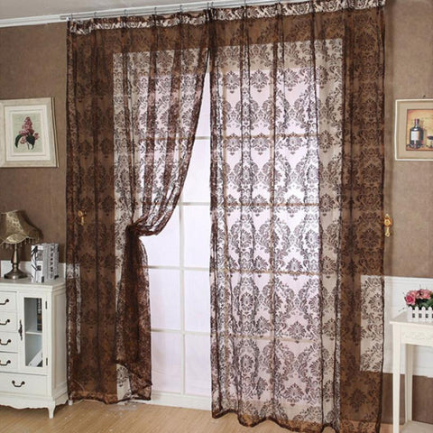 modern curtains Curtain European Classical Style Tulle Window Screens Curtain cortinas dormitorio