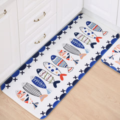 Bathroom Accessories Fish Print Bibulous Bathroom Mat Set Antiskid Bath Mat Farley Wool Toilet Rug Carpet Home Decor
