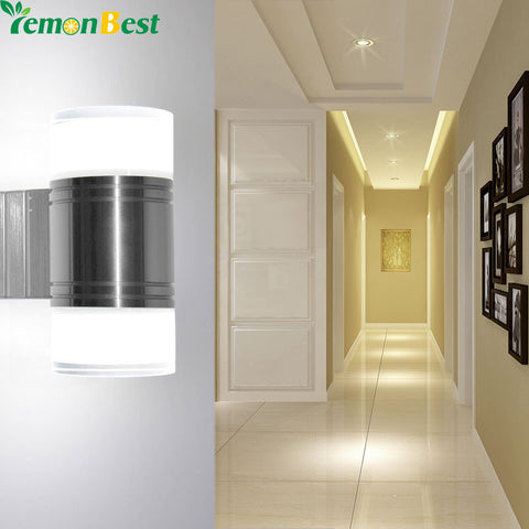 Up Down 10W LED Wall Light Bedroom Cylinder Acrylic Dual Head Wall Lamp SMD5730 Indoor Outdoor  Led Lights for Home Lighting