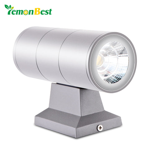 Modern Wall Lamp Up Down Dual-Head Cylinder COB 10W LED Wall Light for Home Lighting IP65 Waterproof Outdoor AC 85-265V