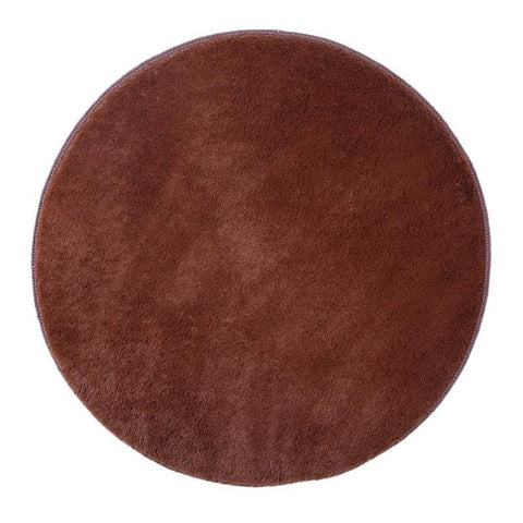 Round Thick Faux Fur Anti-skid Toilet Floor Mat Kitchen Doormat Rugs for Living Bedroom Home Decoration Yoga Mat