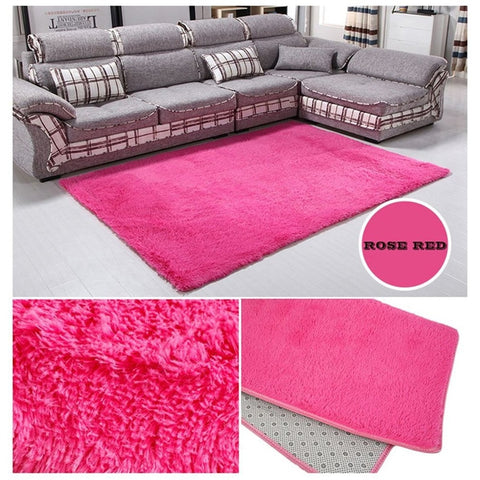 80x160cm Fluffy Rugs Anti-Skid Carpet Shaggy Area Rug Floor Mat Super Soft Indoor Smooth Floor Rugs for Living Room Bedroom