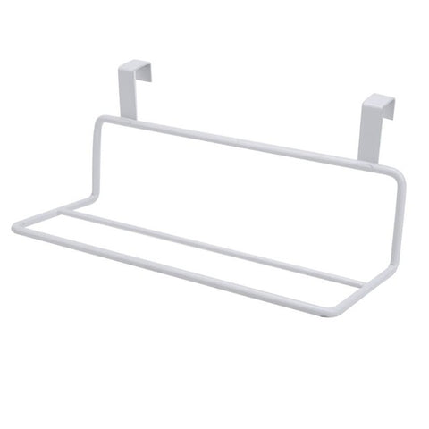 Metal Towel Hanger Rack Holder Shelf Cupboard Cabinet Door Hanging Storage Rack Bathroom Hooks Kitchen Gadgets