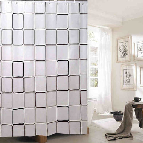 180x200cm Polyester Fabric Bath Shower Curtain Waterproof Bath Screen Bathroom Curtains for Home Bathroom Products
