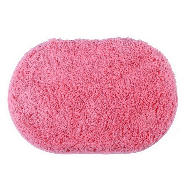 Bath Mats Coral Velvet Fabric Memory Foam Bath Mats Bathroom Horizontal Stripes Rug Non-slip Mats