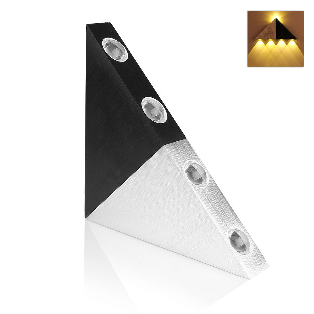 LemonBest 5W Aluminum Triangle led wall light lamp led Modern Home lighting indoor and outdoor decoration light AC90-265V