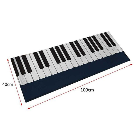 2016 Personality Piano Carpet Bedroom Bedside Living Room Mat Piano Children Pad Rug With Exquisite Handmade Wrapping
