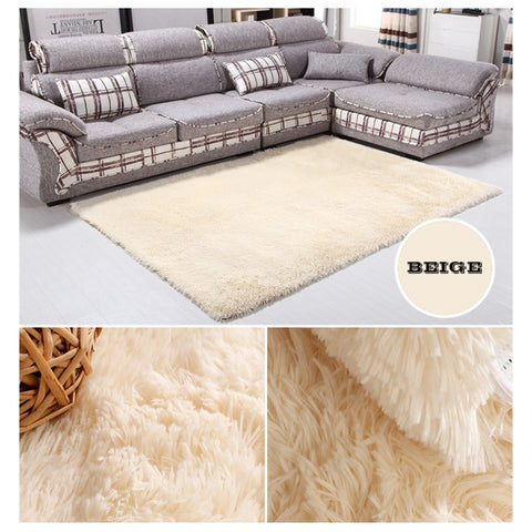 14 Colors House Living Room Bedroom Polyester Fiber Floor Rug Carpet Anti-Skid Shaggy Area Rug Floor Mat Free Shipping