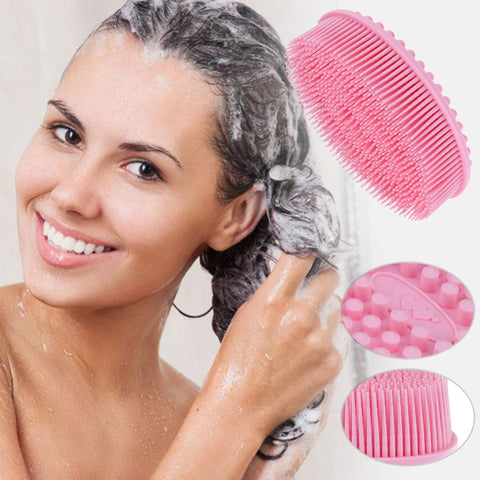 Baby Shower Silicone Brush Ultra Soft Gel Bath Head Massage Shampoo Brush Bathroom Bath Shower Cleaning Brush