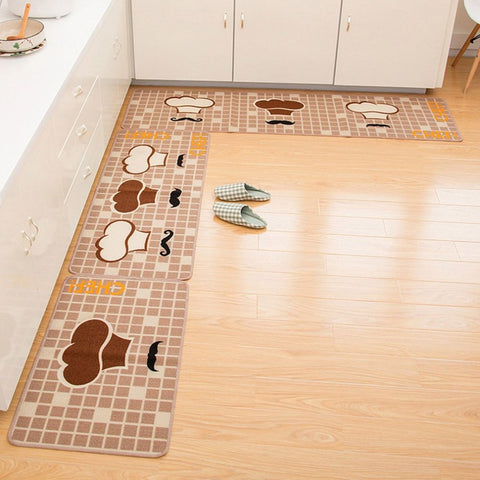 Cartoon Kitchen Mat Anti-skid Door Mat Absorbent Entrance Area Rug Home Decor Carpets for Kitchen Bath Floor Dropshipping
