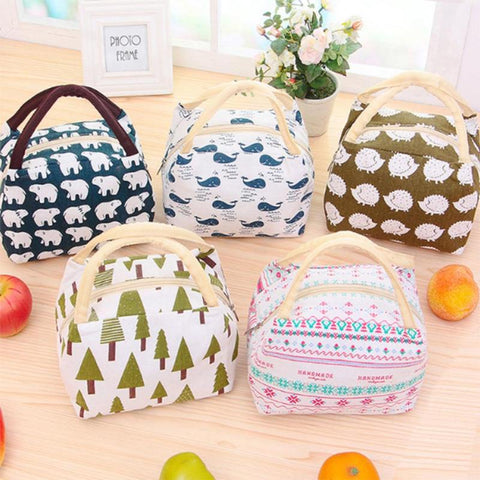 Portable Lunch Bag Thermal Insulated Snack Lunch Box Carry Tote Storage Bag Travel Picnic Food Pouch For Girls Women