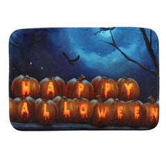 Floor Mats Halloween Pumpkin Printed Bathroom Kitchen Carpets Doormats Anti-Slip Floor Mat for Living Room