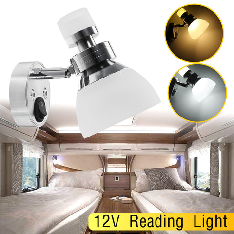 12V Wall Lamp Reading light interior LED Book lamp for Home Bedroom Car LED Spot Light white Universal Dome light