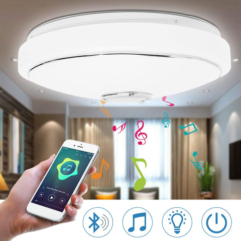 Mising LED Ceiling Light with Controler RGB Color Bluetooth Music Light Flush Mount Lamp For Home Decor Bedroom Light Fixture
