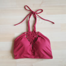 Bali Reversible High Neck Top- Merlot