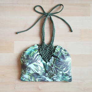 Bali Reversible High Neck Top- Hemp leaf