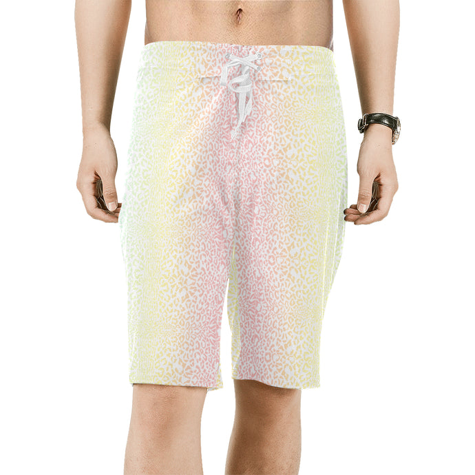 Men's Animal Print Drawstring Stretch Board Shorts
