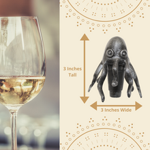Load image into Gallery viewer, Octopus Wine Stopper Cork Dimensions
