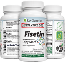 Load image into Gallery viewer, RevGenetics: SENOLYTICS 500: Fisetin 500mg - PreOrder